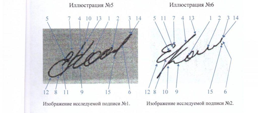 Образцы документов для проведения почерковедческой экспертизы